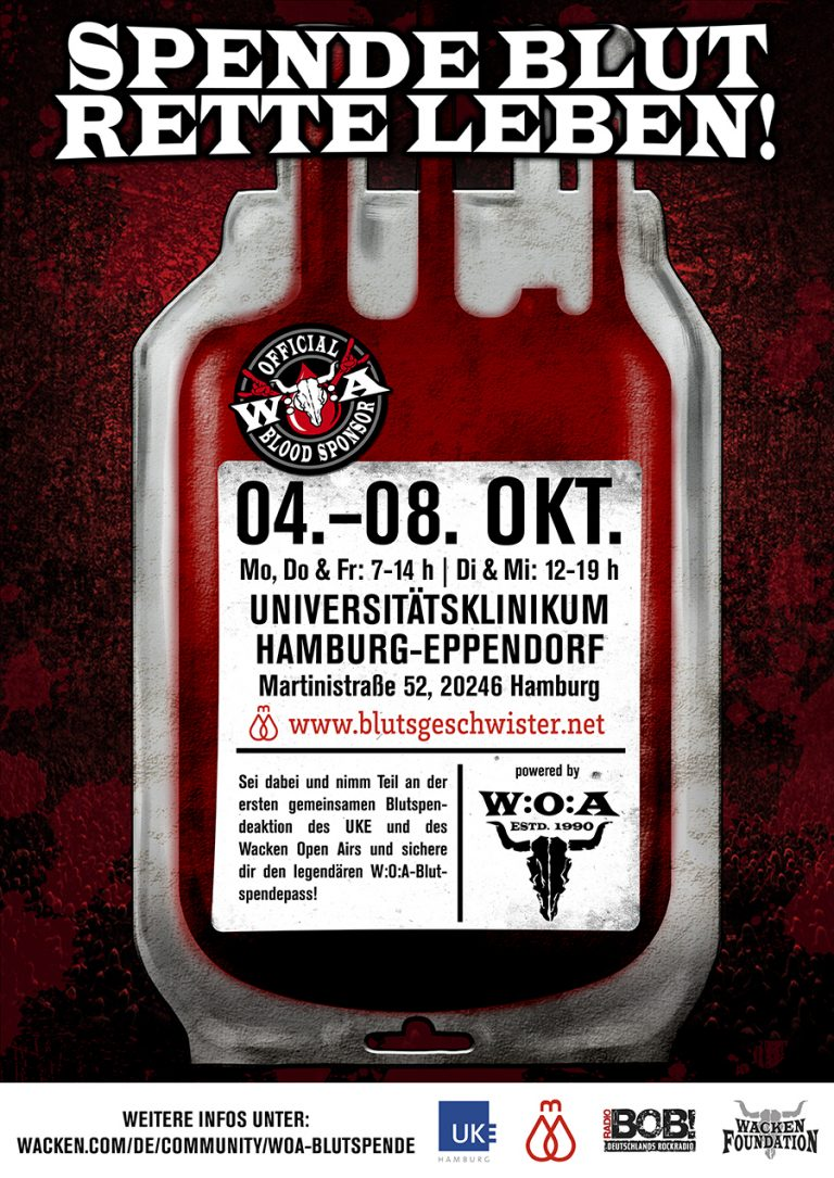 Erste W:O:A-Blutspende im Universitätsklinikum Hamburg-Eppendorf